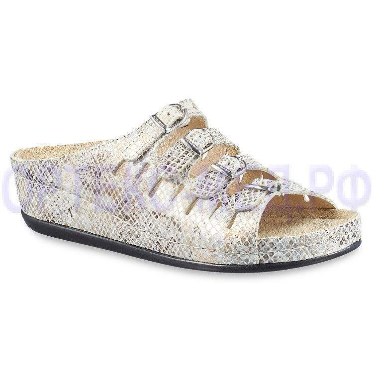 Женские сандалии с принтом питона