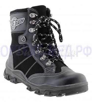 Детские зимние ботинки ортопедические Сурсил Орто А43-032, шнурки