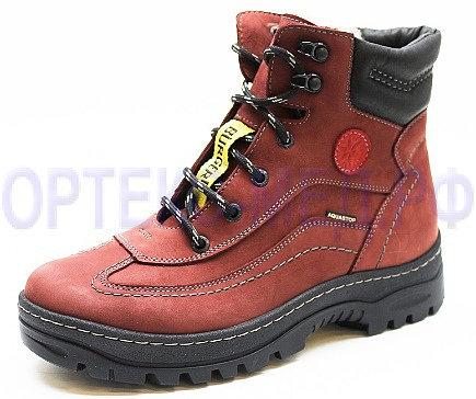 Бордовые женские ботинки зимние