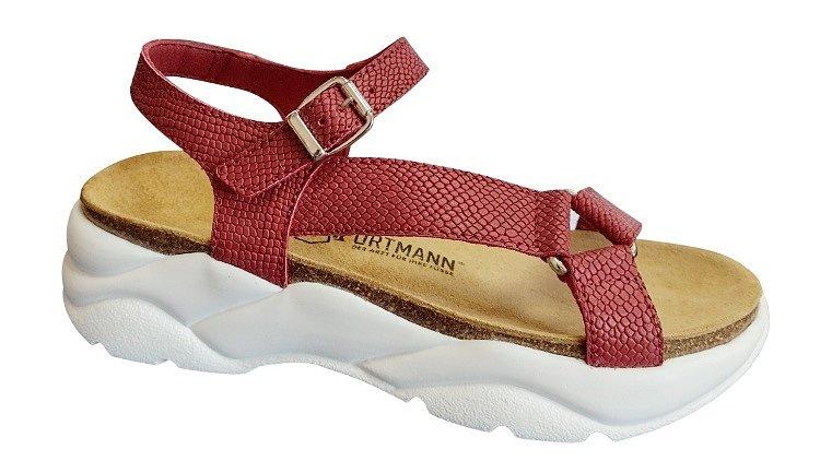 Обувь ORTMANN MARGO ортопедическая готовая,сандали арт.7.99.2 рубиновый,биокожа, о/м