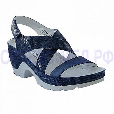 Женские ортопедические сандалии Berkemann Nara 01651 синий металлик