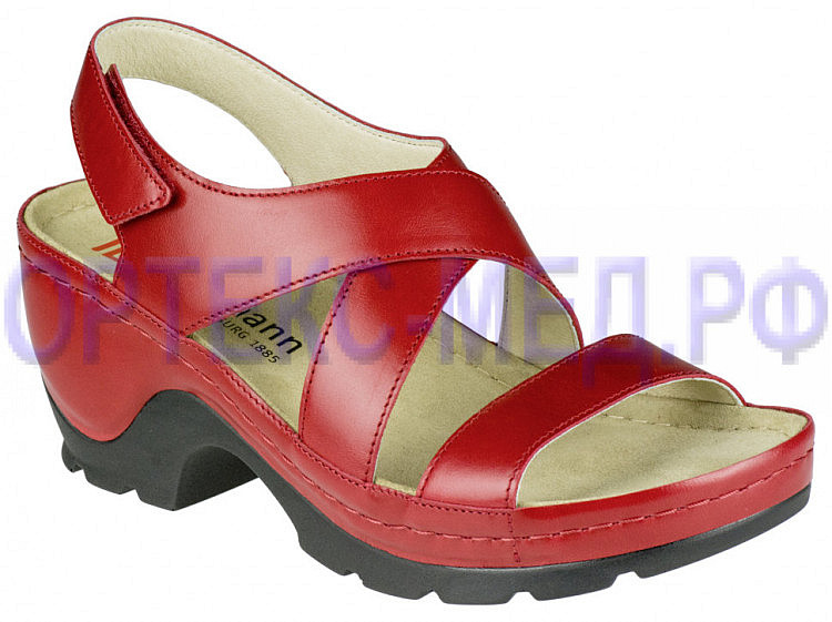 Женские ортопедические сандалии Berkemann Lauren Extra 01554 красный