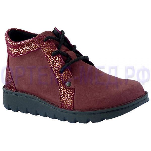 Женские ортопедические ботинки Berkemann X-PRO-ALLROUND-TOEFFLER 00410 бордовый с принтом