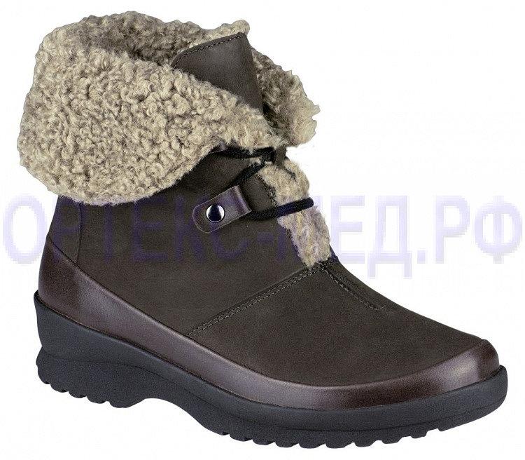 Зимние женские ботинки высокие с мехом