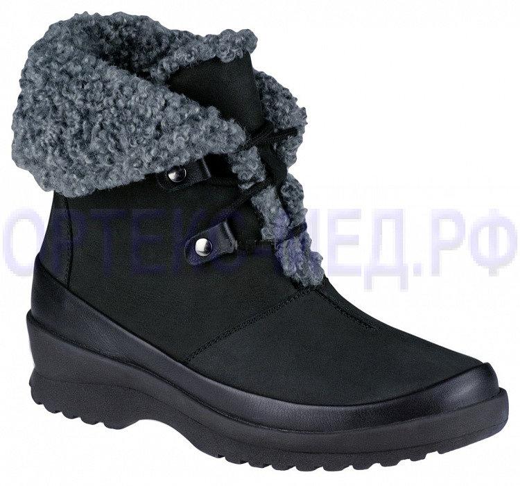 Женские зимние ортопедические ботинки Berkemann Menja 05236 черный