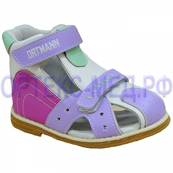 Детские ортопедические сандалии ORTMANN Kids Tonton 7.45.2 розовый/микс