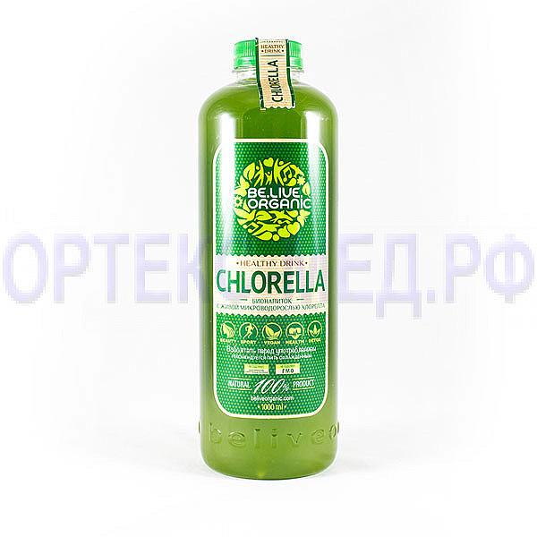 Напиток безалкогольный из водоросли хлореллы Be.Live.Organic 1000 мл