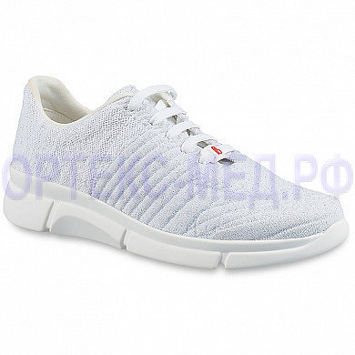 Женские ортопедические кроссовки BERKEMANN Allegra-stretch белый/люрекс