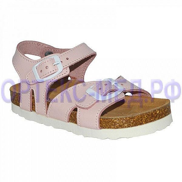 Детские ортопедические сандалии ORTMANN Leon 7.11.2 розовые