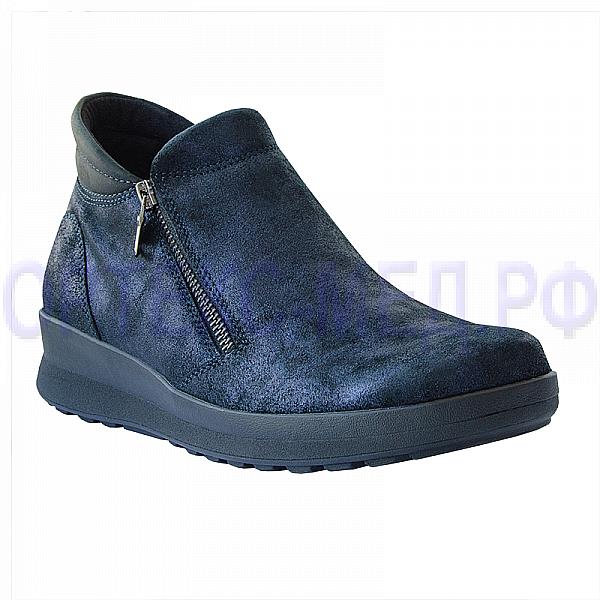 Женские полуботинки ортопедические Berkemann Trixi 03556 темно-синий перламутр