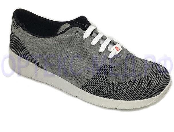 Кроссовки мужские Berkemann ALLEGRO 05550 ортопедические (светло-серый/черный)