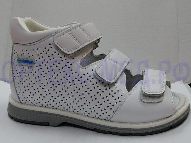 Детские ортопедические сандалии ORTMANN Kids Stenly белый, цветная подошва