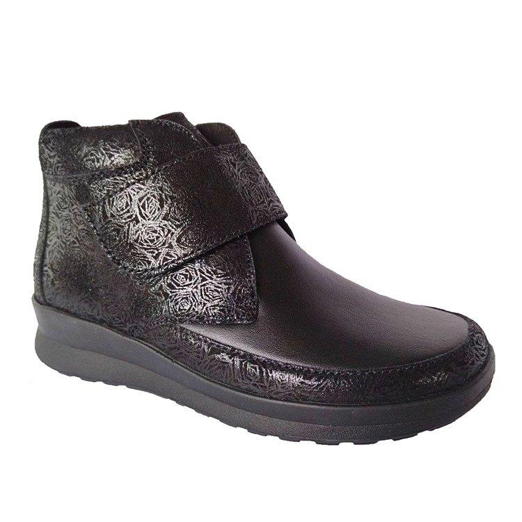 Обувь ортопедическая готовая Sandra арт.05301 черный/блестки