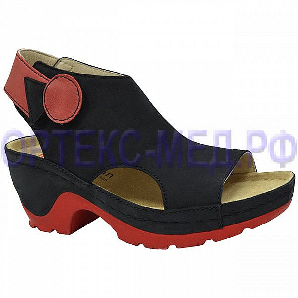 Женские ортопедические сандалии Berkemann Frank 05629 черный/красный