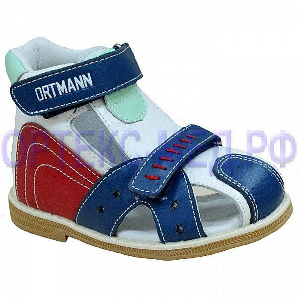 Детские ортопедические сандалии ORTMANN Kids Tonton 7.45.2 красный/синий
