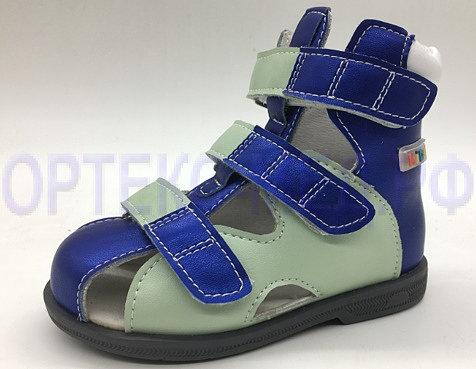 Детские ортопедические сандалии с высоким берцем ORTMANN Kids Dali 7.50.2 мятный/синий