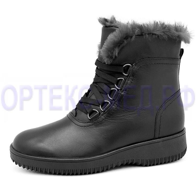 Сапоги зимние женские 811504 черные