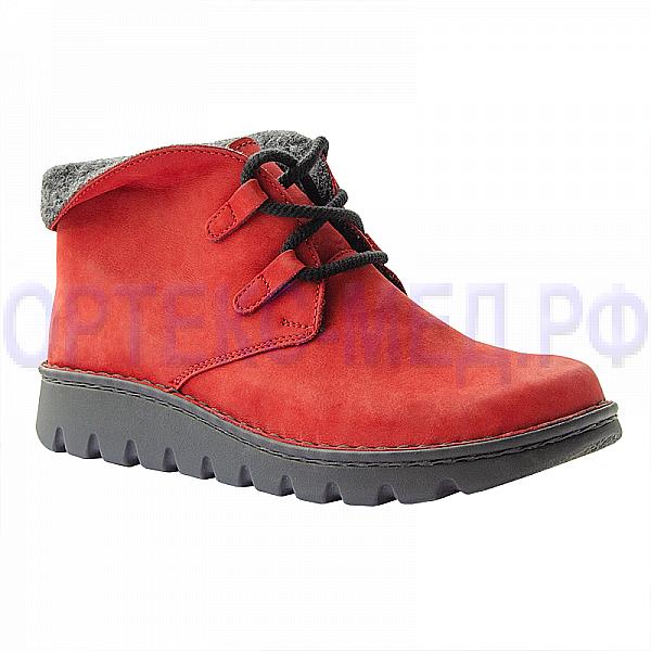 Женские зимние ортопедические ботинки Berkemann Aleika 03604 красный
