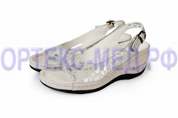 Женские ортопедические туфли Berkemann Phoebe 01763 серый/серебро