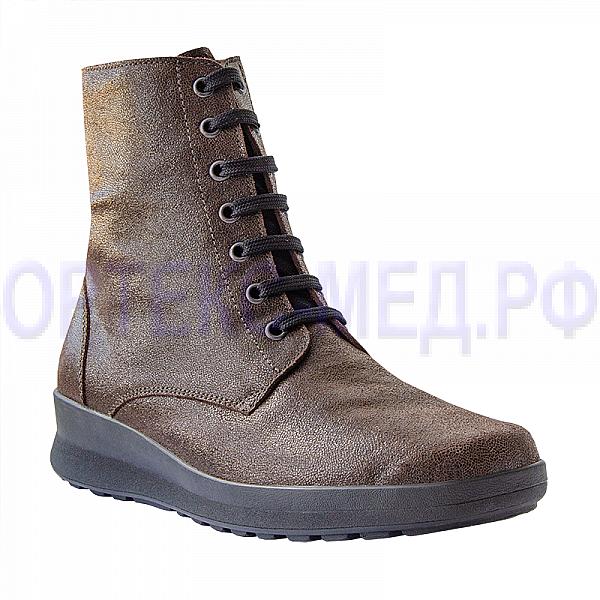 Женские ортопедические ботинки Berkemann Noa 05209 коньяк