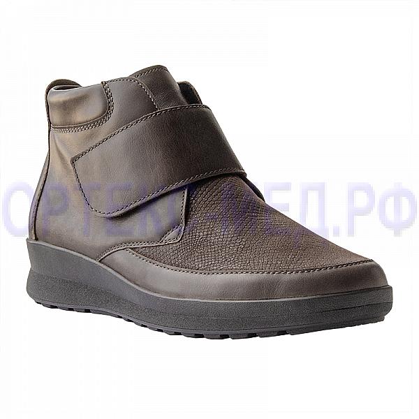 Женские ортопедические ботинки Berkemann Sandra 05301 коричневый, рельеф