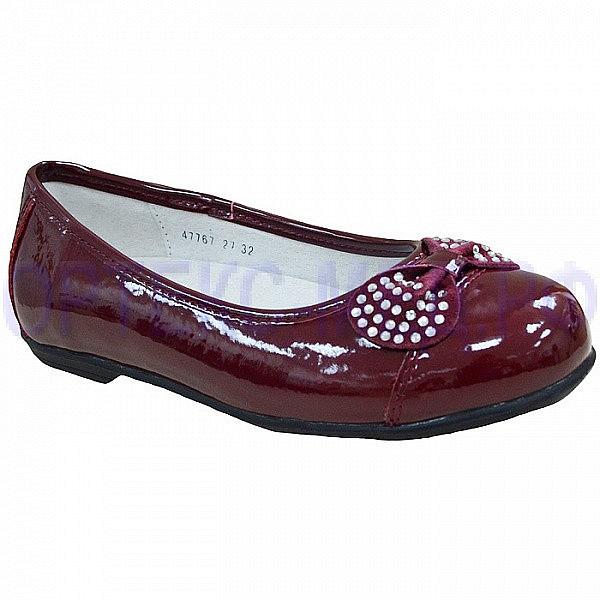 Детские школьные туфли ортопедические Orthoboom 47767-27 бордовые