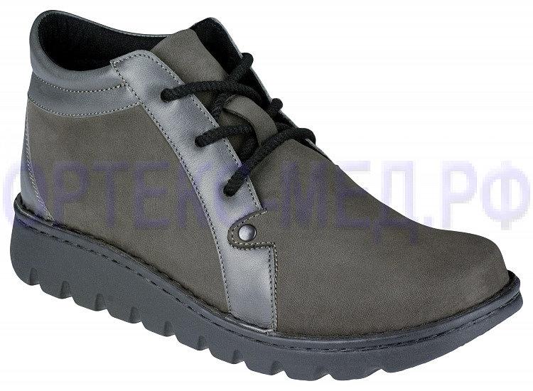 Женские ортопедические ботинки Berkemann X-PRO-ALLROUND-TOEFFLER 00410 серые