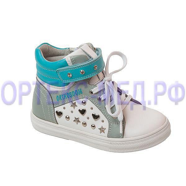 Ботинки детские Orthoboom 37474-16 бело-серый