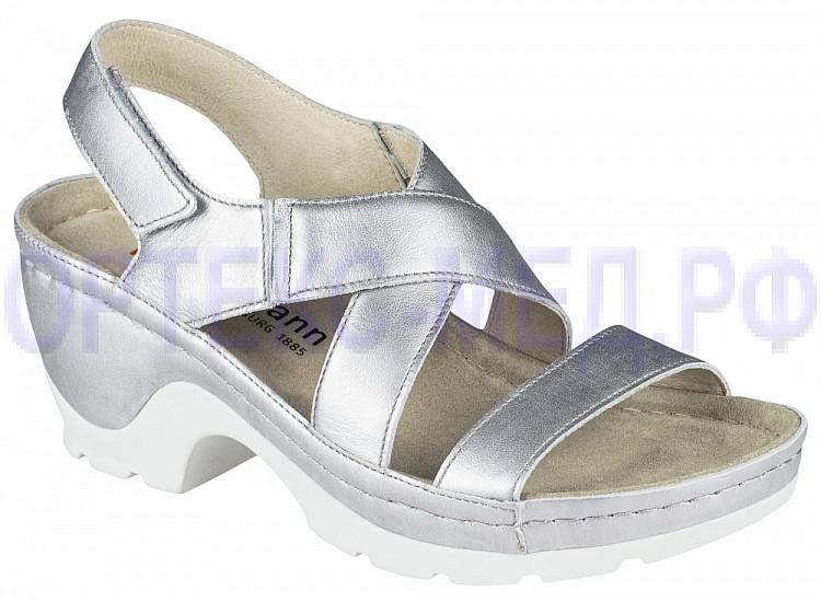 Женские ортопедические сандалии Berkemann Nara 01651 пыльное серебро
