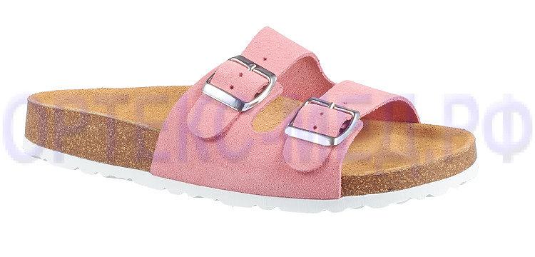 Женские ортопедические сандалии ORTMANN Vegas розовый, мягкая стелька
