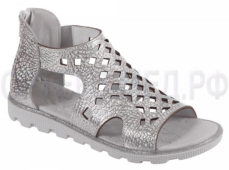 Туфли летние школьные TIFLANI 08F 2001/41 серебро