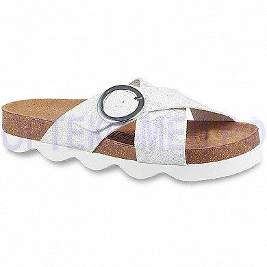 Женские ортопедические сандалии ORTMANN Porto белый с тиснением