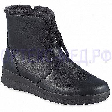 Женские зимние ортопедические полусапоги Berkemann Romira 05315 черный