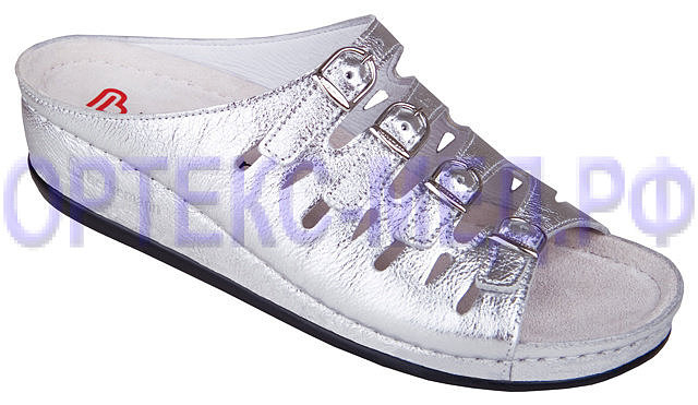 Женские ортопедические сандалии Berkemann Hassel 00737 серебряный