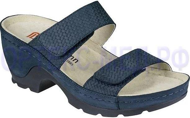 Женские ортопедические сандалии Berkemann Julia 01101 синий нубук
