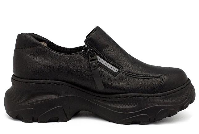 Обувь П/ботинки жен. арт. 8122216 черный,нат.кожа+стрейч кожа/поролон