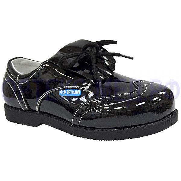 Детские ортопедические школьные ботинки ORTMANN Kids Roma 7.118.2 черные