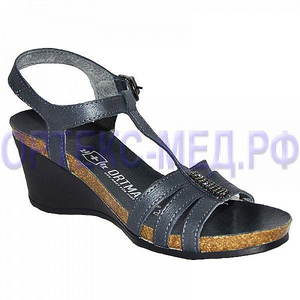 Женские комфортные туфли ORTMANN Flamenco C007.2 серый с кристаллами