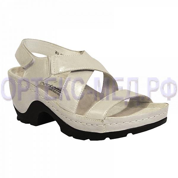 Женские ортопедические сандалии Berkemann Lauren Extra 01554 серебристый перламутр