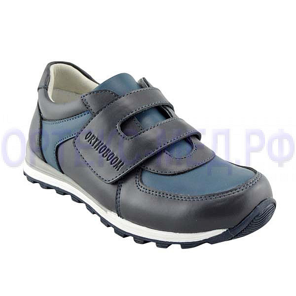 Детские ортопедические кроссовки Orthoboom 33057-02 черный-синий